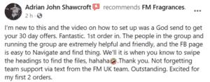 Adrian John Shawcroft Avatar - FM Perfume Facebook Review