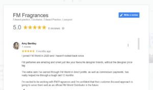 Amy Bentley Avatar - FM Fragrances Google Review