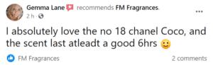 Gemma Lane Avatar - FM Perfume Facebook Review