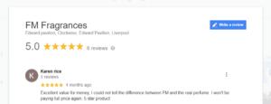 Karen Rice Avatar - FM Fragrances Google Review