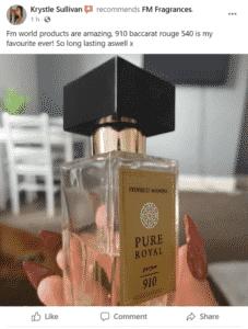 Krystle Sullivan Avatar - FM Perfume Facebook Review